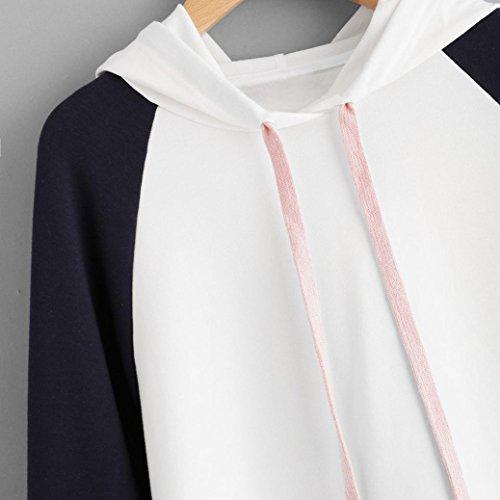 Felpa Ragazze Tumblr,Kword Donna Maniche Lunghe Pullover In Cotone Felpa Felpa Appliques Per L'Inverno