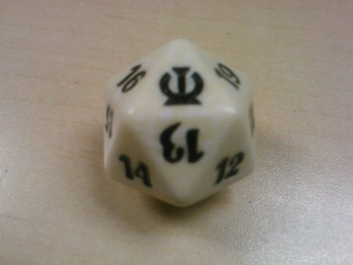 Game Life Dice Of (MTG Spindown D20 Life Counter - Theros White)