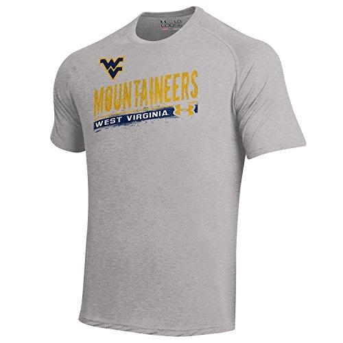 NCAA West Virginia Mountaineers Tech Tee, True Gray Heather, Large