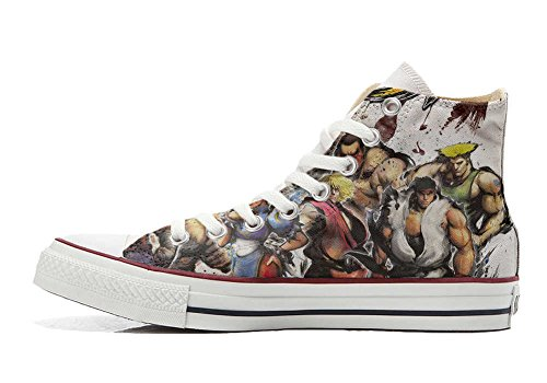 Converse PERSONALIZZATE All Star Hi Canvas, Sneaker Uomo/Donna (prodotto Artigianale) The fighters