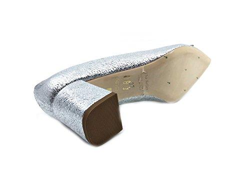The de de Zapatos Piel Plateado Mujer para Seller Vestir wqpwrxUg