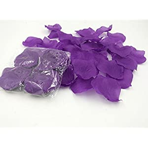 1000PCS Brial Shower Artificial Fabric Rose Silk Flower Petals Table Scatters for Wedding Romantic Night Purple Prom Ball Party Aisle Decorations Floor Confetti 4