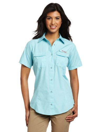 Columbia Women's Bonehead Short Sleeve Shirt, X-Large, Clear