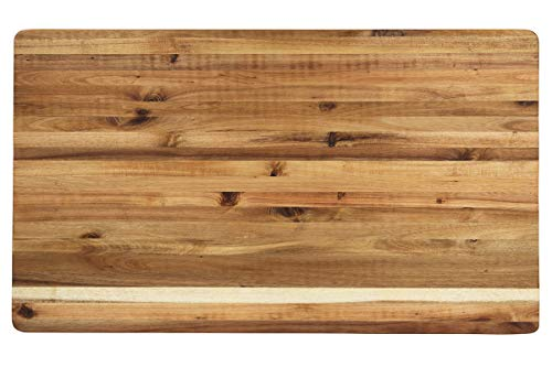 (Villa Acacia Extra Large 30x18 Wood Cutting Board - 1.5