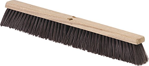 Carlisle 4520401 Flo-Pac Crimped Heavy Floor Sweep with Brace, Polypropylene Bristles, 36'' Block Size, 3-1/4'' Bristle Trim, Maroon by Carlisle