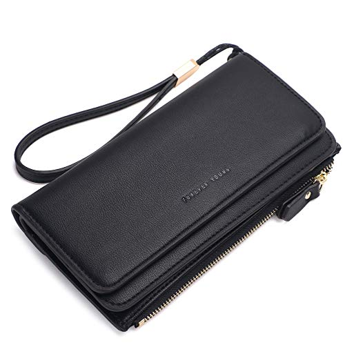 Credit Clutch - Kueh Wallets for Women Clutch Purse Trifold Long Ladies Credit Card Holder Organizer