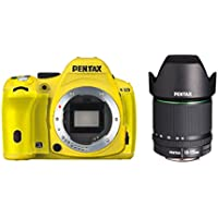 Pentax K-50 16MP Digital SLR Camera 3-Inch LCD with 18-135mm f/3.5-5.6 WR Lens (Yellow)