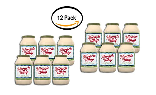 PACK OF 12 - Kraft Miracle Whip Mayo Dressing Olive Oil Reduced Fat, 30 fl (Kraft Miracle Whip Dressing)