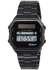 Vestal Mens SYNDM01 Syncratic Solar Power Digital Display Japanese Quartz Black Watch