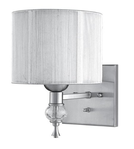 World Imports WI826137 Bayonne Collection 1-Light Brushed Nickel Sconce with Silver Shade