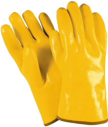MCR Safety 6612 Single-Dipped PVC Plastic Gloves