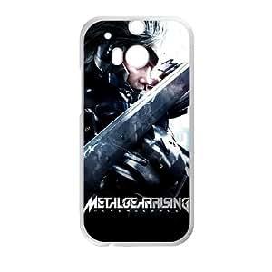 HTC One M8 Cell Phone Case White MGRR Raiden ISU273111