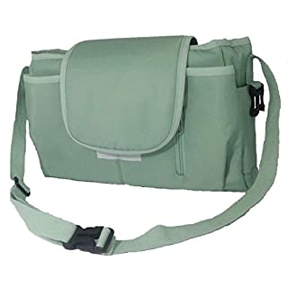 Compact Diaper Bag with Straps for Shoulder, Hang on the Stroller and Cradle, Enough Space, Green, 12 in x 4 in x 8 in (LXWxH)