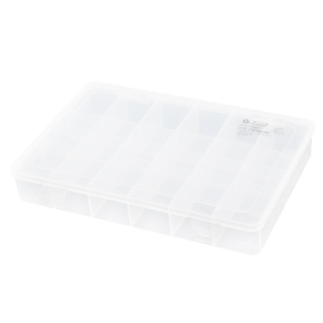Aexit Clear Plastic Tools & Equipment Adjustable 24 Slots Electronic Parts Storage Tool Boxes Box Case