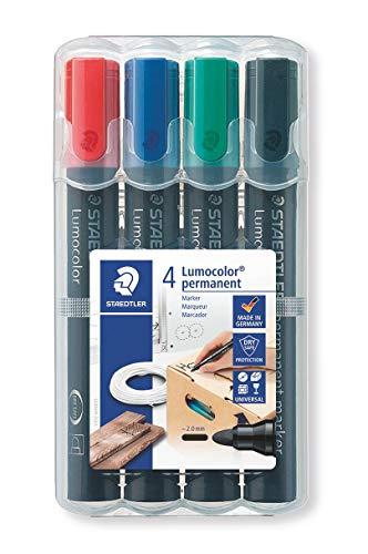 Staedtler Lumocolor Permanent Marker Box 4 colours 352 WP4