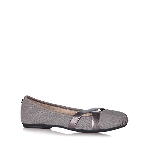 Slate Ballet Butterfly Shoes Snake Twists MYA Foam Memory grey Grey Flat BBP1E8q