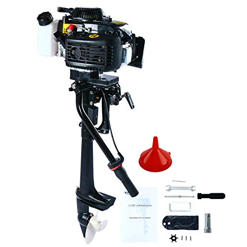 - DasMarine 4 Stroke 4 HP Heavy Duty Outboard Motor 44CC Boat Engine with Air Cooling System
