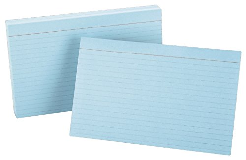 Oxford Colored Index Cards - Oxford Ruled Color Index Cards, 5
