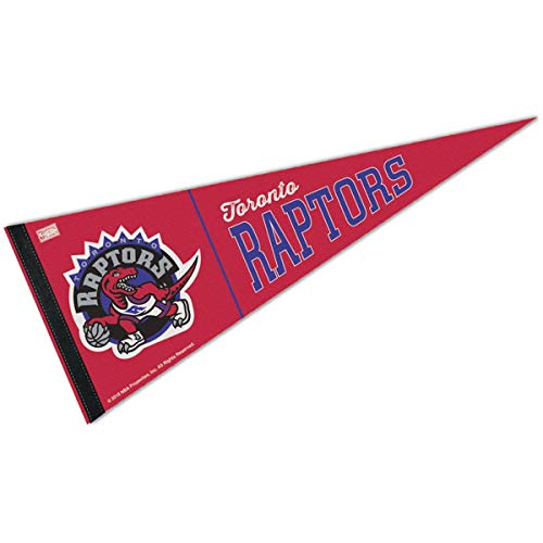 (WinCraft Toronto Raptors Hardwood Classics Retro Vintage Pennant Flag)