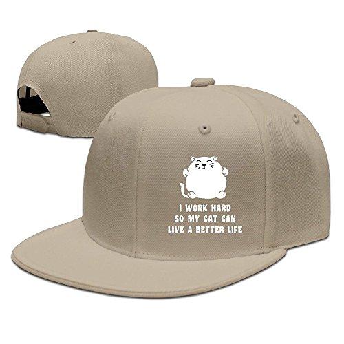Runy Custom I Work Hard So My Cat Can Live A Better Life Adjustable Baseball Hat & Cap - Casual Adidas Sunglasses