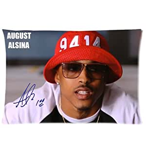 Tt-shop Soft Zippered Pillowcase Pillow case Cover 20*30 Inch (Twin sides) August Alsina Signature 01 Pattern Fashion Design
