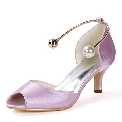 Tamaño Toe Peep 35 Satin Altos Heel Layearn Bridesmaid Buckle 6cm 43 Zapatos Pink Boda Evening De Mujer Tacones xw8AqH