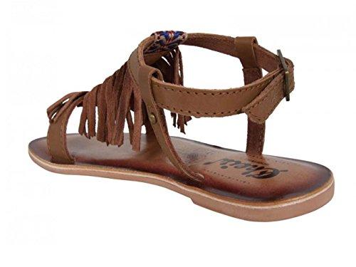 CHEIW - Sandalia niña marrón con flecos, talla: 30