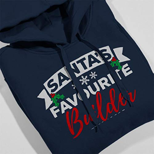Santas Blue Women's Favourite Navy Builder Coto7 Sweatshirt Hooded Christmas POqgW7dw