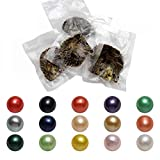 Freshwater Oysters with Pearls Inside,50pcs Cultured Love Pearl Oyster Pearls Various Shining (7-8mm)