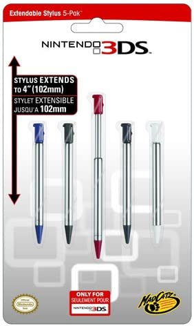 Mad Catz - Stylus Extensible Pack 5 Unidades (Nintendo 3DS ...