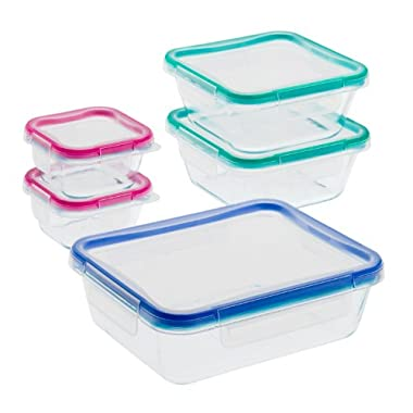 Snapware 10-Piece Total Solution Food Storage Set, Glass