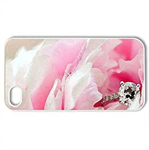 Forever my Love - Case Cover for iPhone 4 and 4s (Flowers Series, Watercolor style, White)