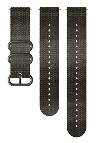 Suunto Watch Strap, 24mm, Textile, Foliage Gray- Explore, M+L: 130-240 mm