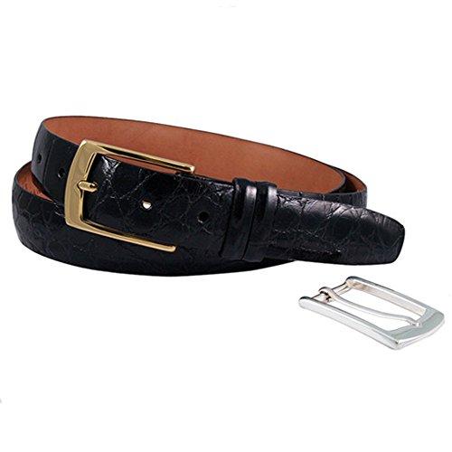 Trafalgar Genuine American Alligator Belt in Black