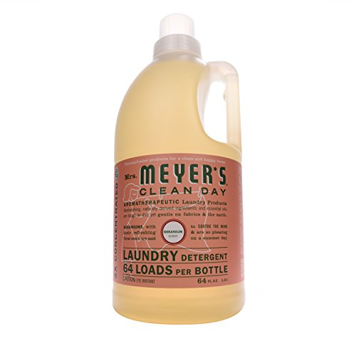 Mrs. Meyer's Clean Day Laundry Detergent, Geranium, 64 fl oz