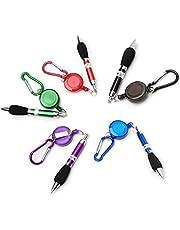 ROSENICE Retrattile Badge Reel Pen moschettone Pen - 5 pezzi/set, inchiostro colore...