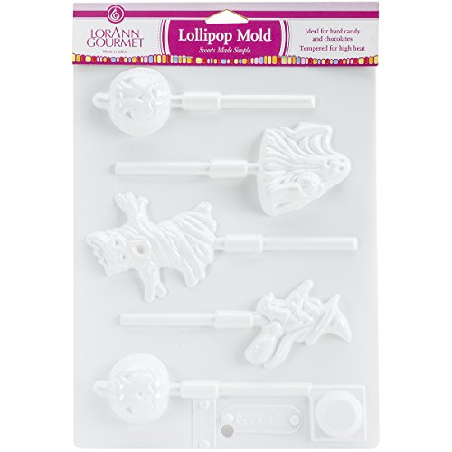 Lorann Oils 5536 Halloween 5 Cavity 4 Designs Lollipop Sheet Mold