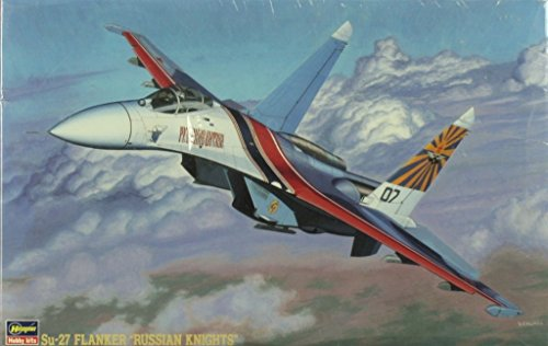 Hasegawa 1:72 Su-27 Flanker Russian Knights Plastic Model Kit (Su 27 Russian Knights)