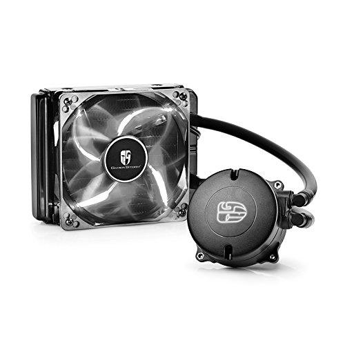(DeepCool Maelstrom 120T Liquid Cooling Kit, 120mm Fan PWM LED White, Heatsink for AM4/AM3+/AM3/AM2+/AM2/FM2+/FM2/FM1/2011/1366/1151 )