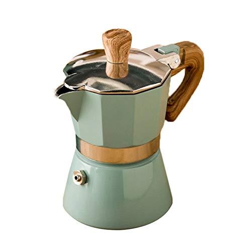 Rsoamy Máquina de café, cafetera Italiana de Filtro Moka Espresso de Aluminio para 3-6 Tazas