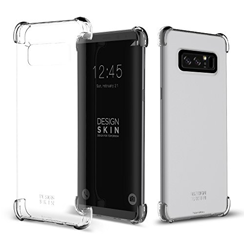 Galaxy Note 8 Case (2017), DesignSkin [Corner] : Shock Absorbing Ultra Slim Light Thin Shockproof Edge Protection Bumper Cover Transparent Basic Clear Back Minimalist for Galaxy Note 8 (Clear Corners)