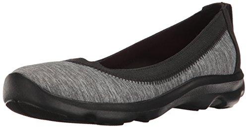 crocs Women's Busy Day Stretch Heather Flat, Dark Grey, 9 M US