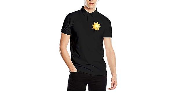 Cartoon Space Sun Camiseta de Manga Corta para Hombre Polo T Shirt ...