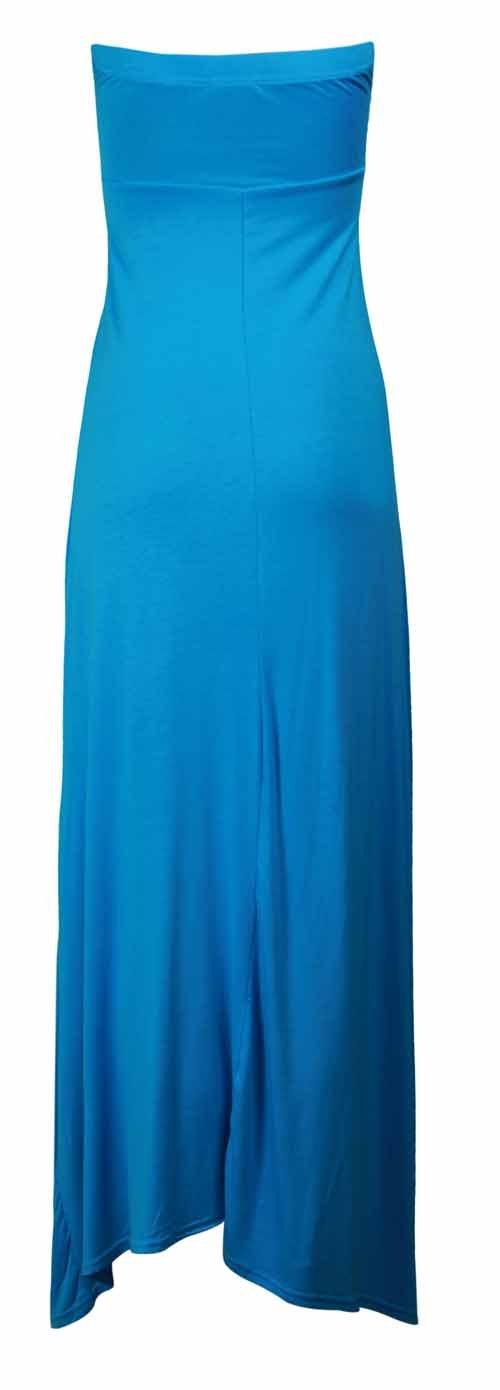 Kleid Damen trägerlos mit Rüschen Falten Bandeau Sweetheart Ausschnitt lang  Maxikleid Sommer neu: Amazon.de: Bekleidung