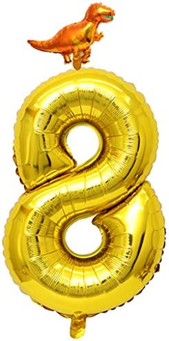 数字バルーン ナンバー風船 誕生日バルーン 飾り付け 大きい 48cm 1歳 アルミバルーン全10パタン - 数字8