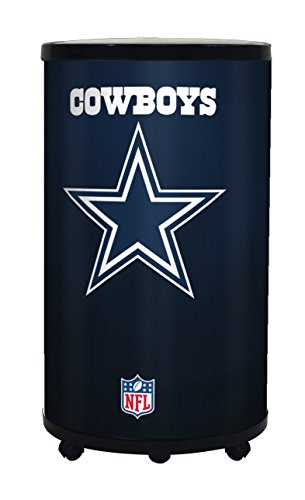 NFL Dallas Cowboys Ice Barrel Cooler, Black, 19'' by GLAROS