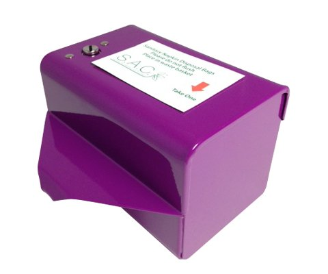 Sanitary Napkin & Tampon Disposal Bag Dispenser Kit - Roll Format, Purple