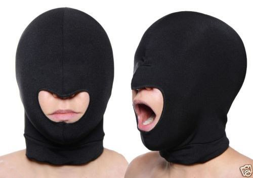 Blindfold Mask Spandex Blindfold Eye Face Mask Open Mouth Hood Head Cover Opening Balaclava Erotic ()