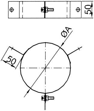 /Ø 130 mm Schornstein Abspannschelle 3-Punkt