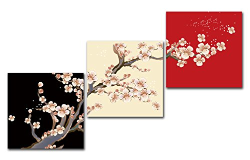 Gardenia Art Plum Blossom Flowers Canvas Prints Wall Art Pai